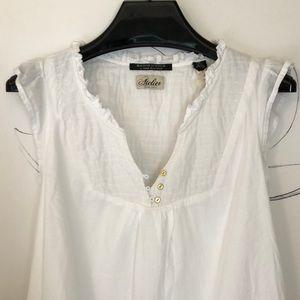 Maison Scotch Atelier White Peasant Shift Dress
